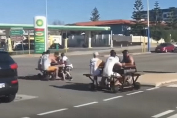 BangShiftcom Australians Be On The Lookout For Snort Motorized - Motorized picnic table