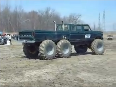Classic YouTube: Another Candidate For The Ultimate Camper Truck – This Tractor-Tired 6×6 Ford!