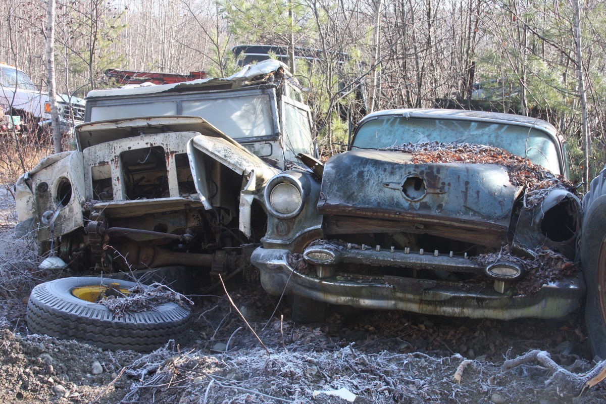 Gates Salvage Yard Tour: Corvair Rampside Trucks, Rotted Wagons, Heavy Trucks, And More