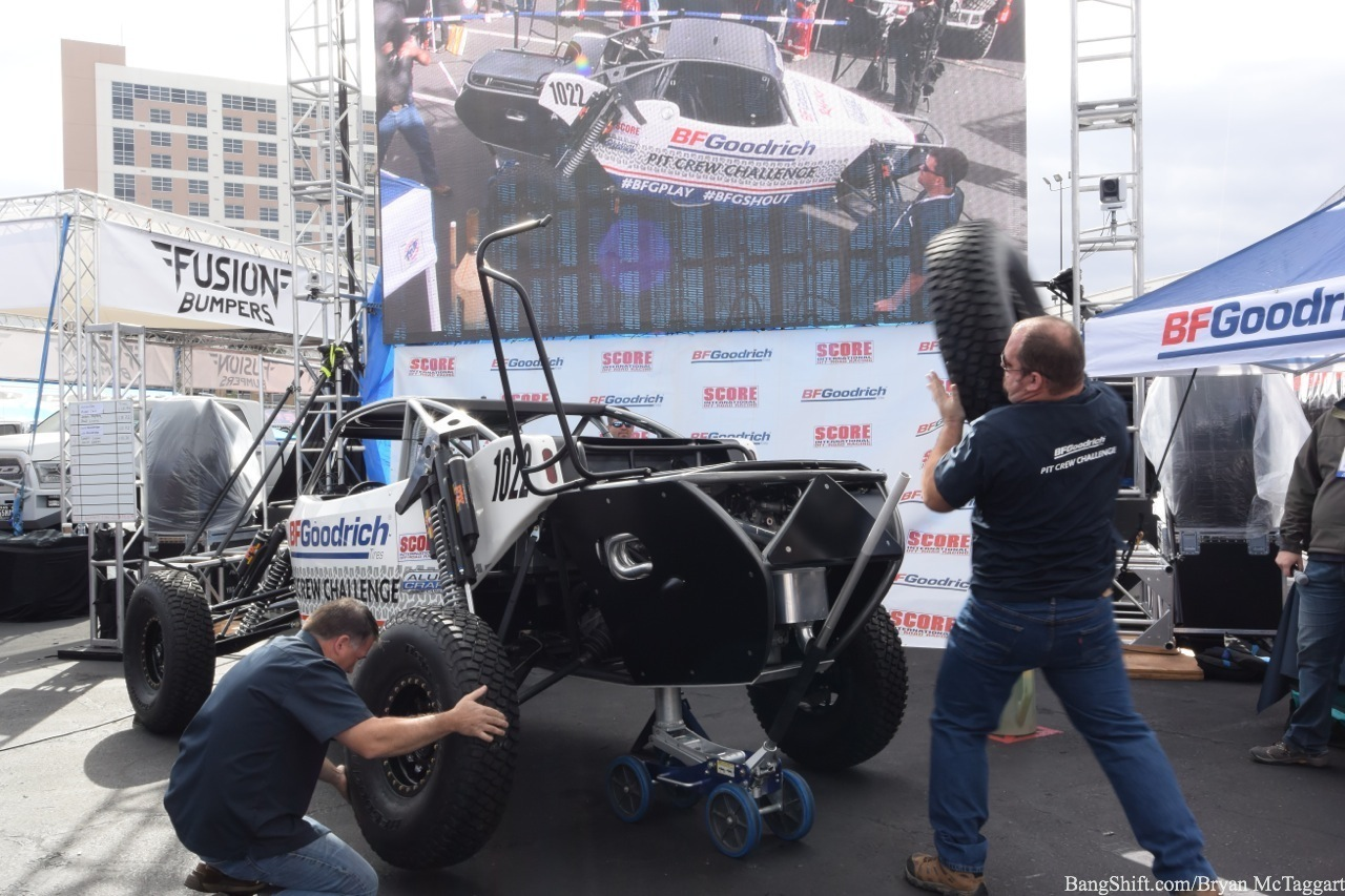 """Unhinged Retrospective: We Put The """"Competitive"""" Into """"Fun and Competitive"""" At The BFGoodrich Pit Crew Challenge During SEMA 2015!"""