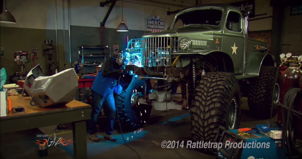 Watch Stacey David Install Giant Custom Bumpers On Sgt. Rock: Fabrication Is Fun!