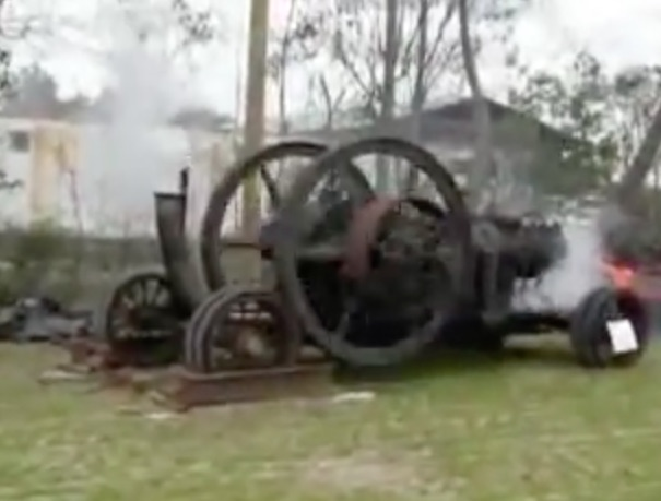 Watch This Monster 1918 Vintage Hit and Miss Engine Fire Up And Run – Chuff, Chuff, BANG