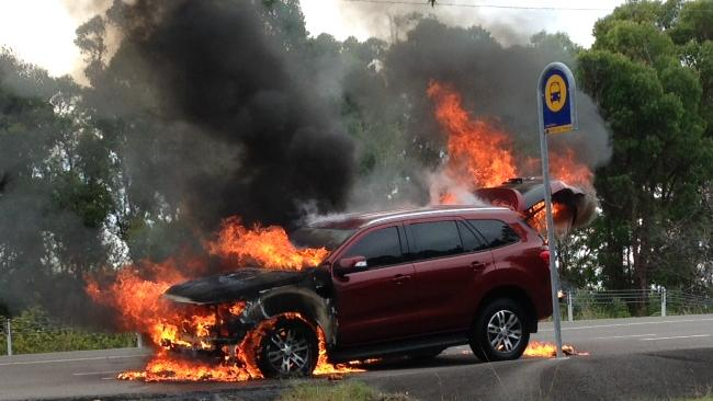 Bangshift Com Toasty Ford Everest Suv Self Immolates During Press