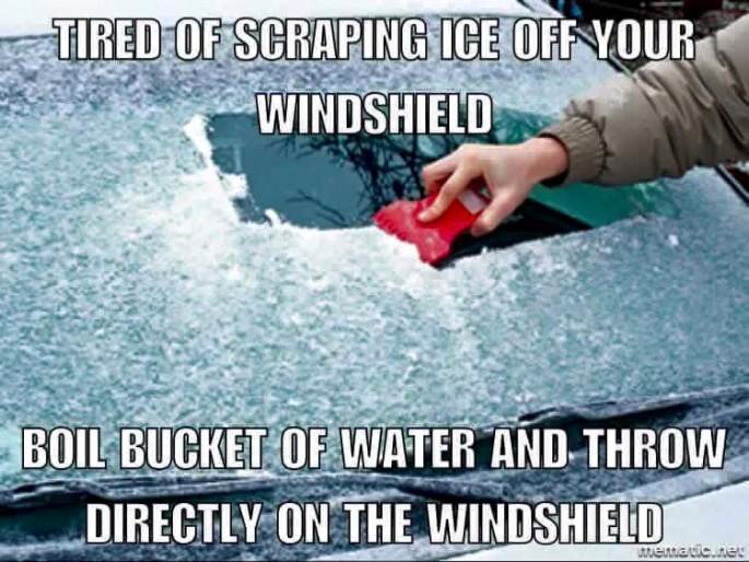 windshield defrost