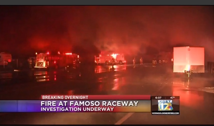 Breaking News: Fire Rips Through Famoso Raceway – Takes Out Tower And More – UPDATED!