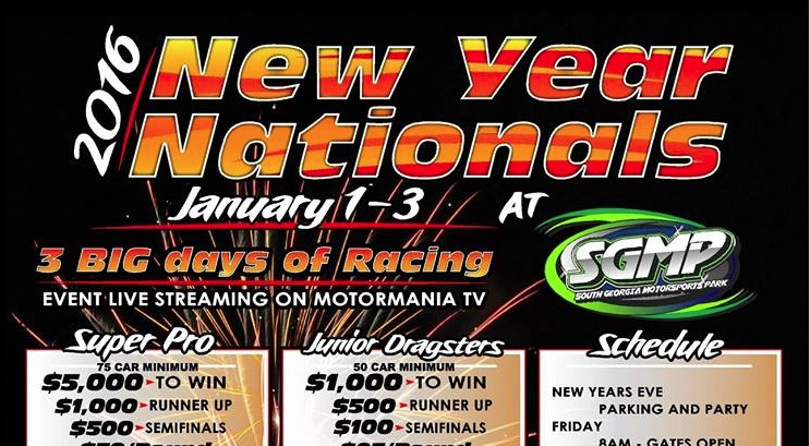 FREE LIVE Drag Racing All Weekend From New Year Nationals At South Georgia Motorsports Park!