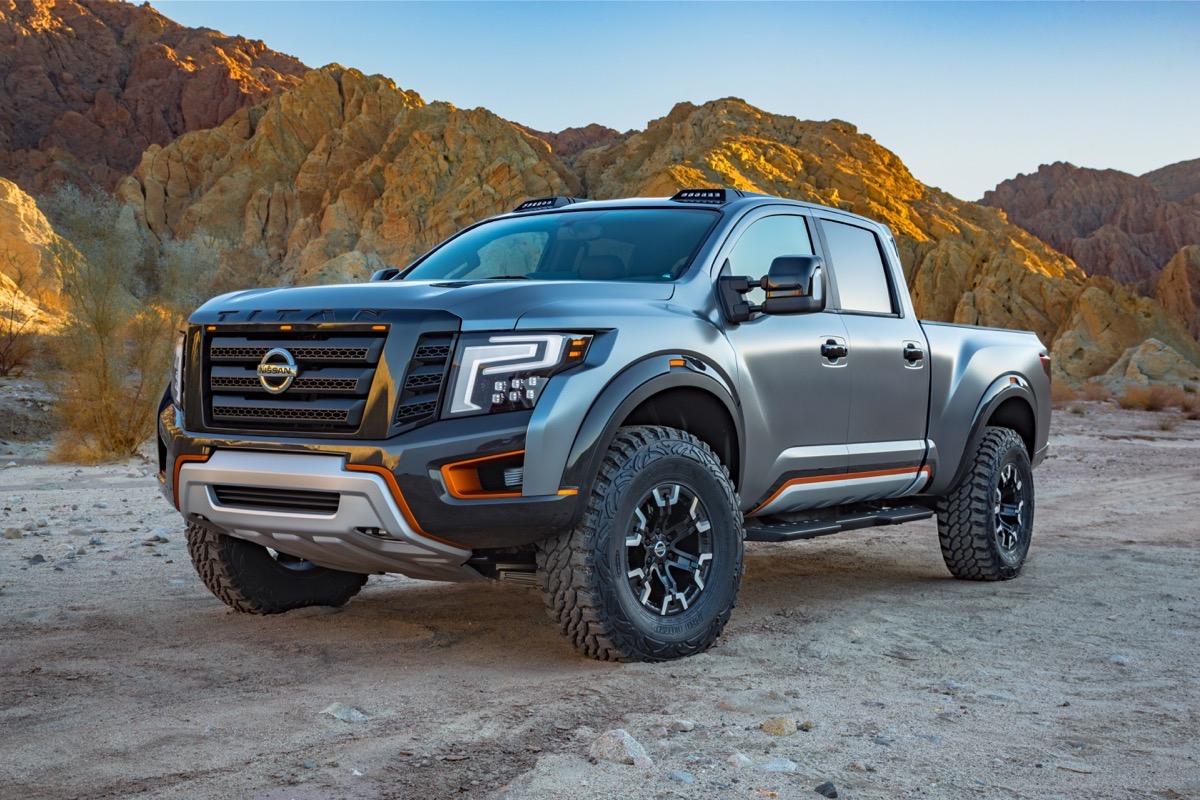 Breaking News Nissan Announces The Titan Warrior Concept Custom Suspension Cummins Power on New England Auto Show 2016