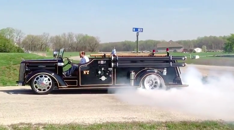 Watch This 1944 Mack Fire Truck Powered By A Viper V10 Perform A Sweet Burnout!