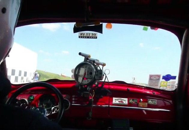 Ride Along In A Gear Jamming VW Bug As It Runs The Quarter Mile In England