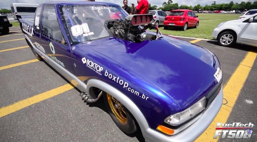 Watch This Blown S10 Take The Long Way Down Brazil's Curitiba Autodrome Drag Strip – Wild