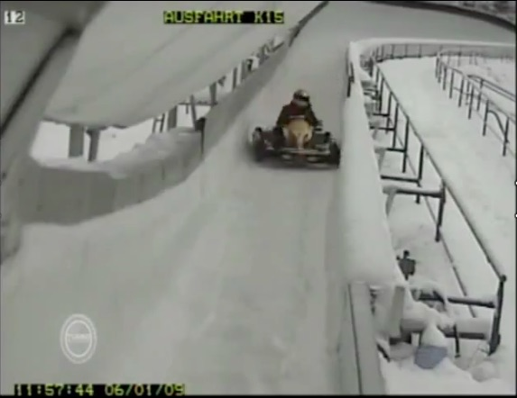 Video: Go Karts On An Icy Bobsled Track! Horrible Idea But Big Fun To Watch