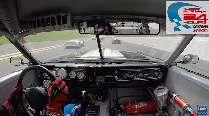 Watch This 1965 Mustang Rip From 25th To 1st At Daytona! Screaming Small Block, Great Driving