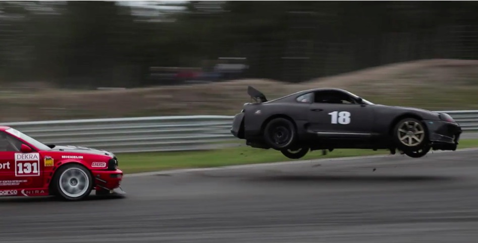 COMING THROUGH! Watch This Supra Take A Short Flight After Losing Its Brakes