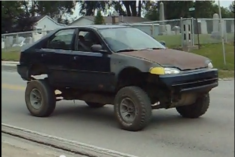 Its Not Everyday You See A Lifted Four Wheel Drive V8 Powered Honda