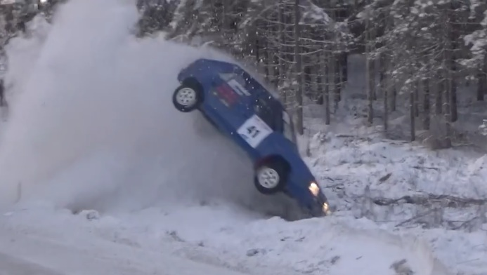 Winter Rally Madness: The Action And Carnage From The Jari-Pekka Junior WRC Rally In Finland