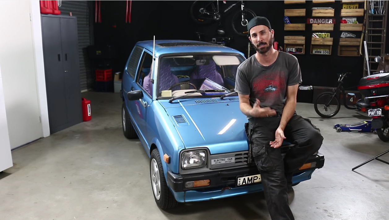 Bangshift Com The Mighty Car Mods Guys Hot Rod An Old Electric Car Funny And Bangshift Approved Bangshift Com