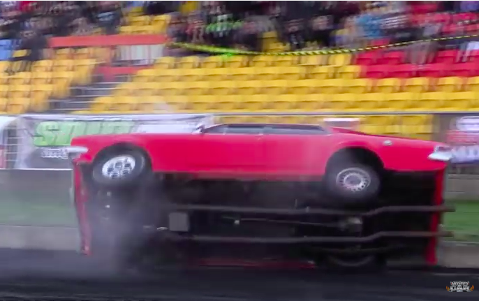 Burnout Contest Wreckage: Watch This Guy Hammer The Wall HARD