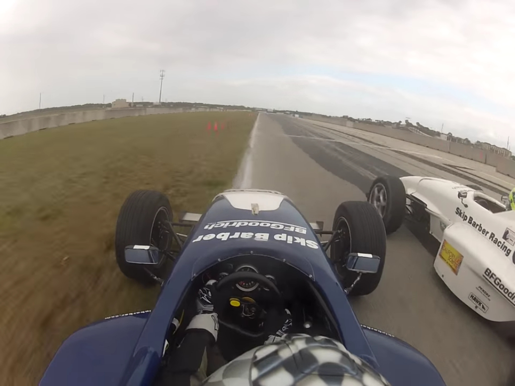 Now THIS Is A Pass! Skip Barber Competitor Uses Entire Track, Holy Spirit, To Overtake