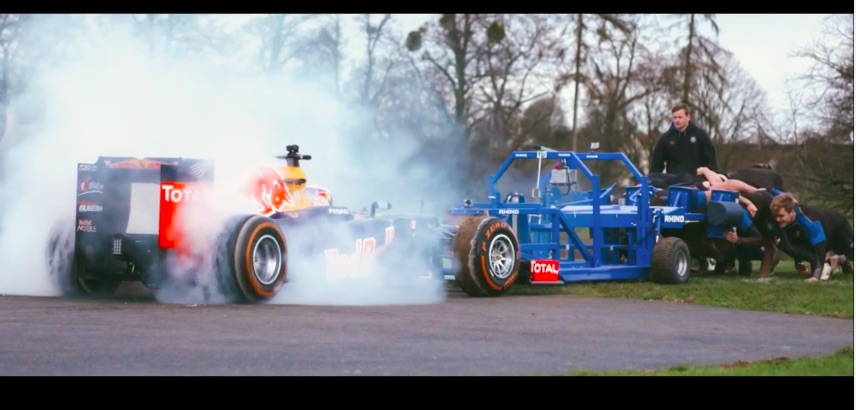 Red Bull Literally Pits A Rugby Team Against An F1 Car – Insane And Awesome
