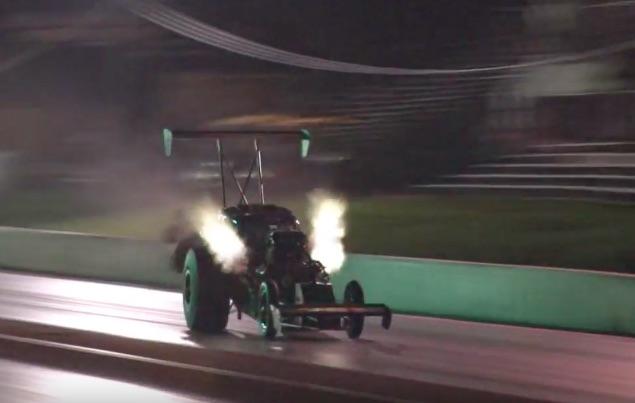 Watch The Iron Big Block Chevy Powered Metal Mafia Fuel Altered Take On Ozark Motorsports Park