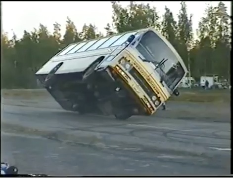 "Classic YouTube: Two-Wheeled Bus Action From Finland, Starring ""Crazy"" Vesa Kivimäki!"