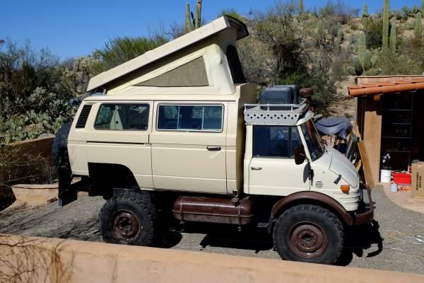 This 1979 mercedes benz unimog expedition for Mercedes benz camper van rental