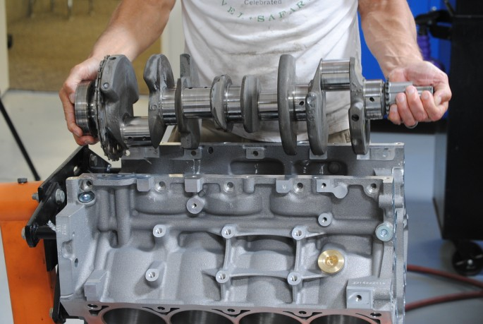 The key to our rev-happy combination? We dropped a short-stroke, 4.8L crank into a big-bore LS3 block!