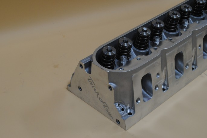 Topping the big-bore, short stroke short block was a set of TFS Gen X 255 Square-port heads. The TFS heads flowed 382 cfm, or more than enough for our healthy, hybrid application.
