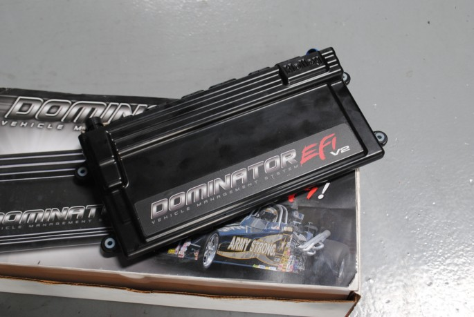 The ignition timing was controlled using a Holley Dominator EFI system.