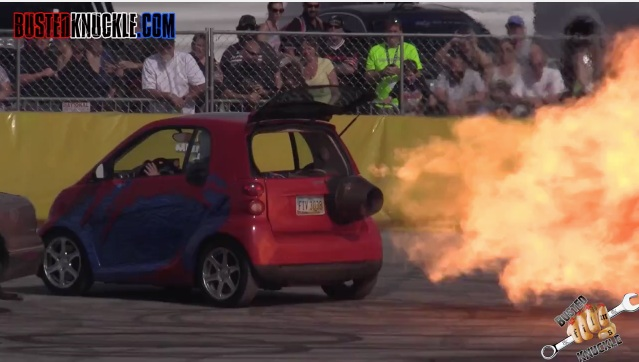 Looks Perfectly Safe To Us: Check Out This Jet-Powered Smart Car!