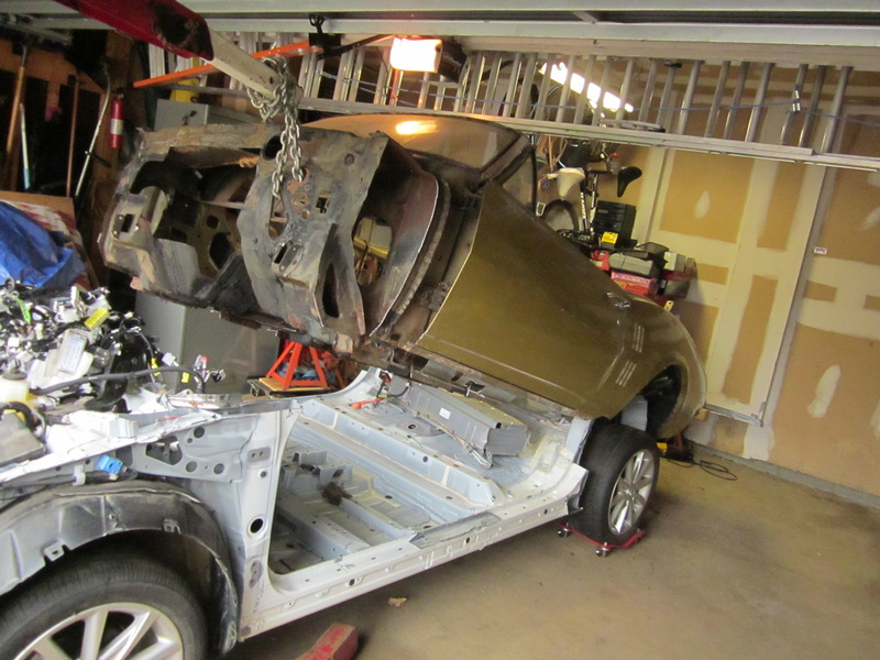 Someone Is Dropping A 1967 Firebird Convertible Body Onto A Prius Chassis – This Is Painful