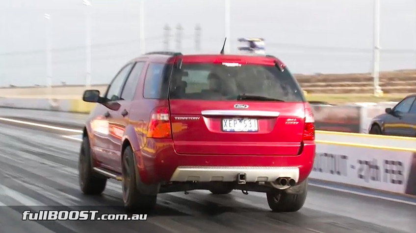 Turbo All The Things: Watch This Australian Ford Territory Mom Buggy Run 10s At 136 With A Boosted Six