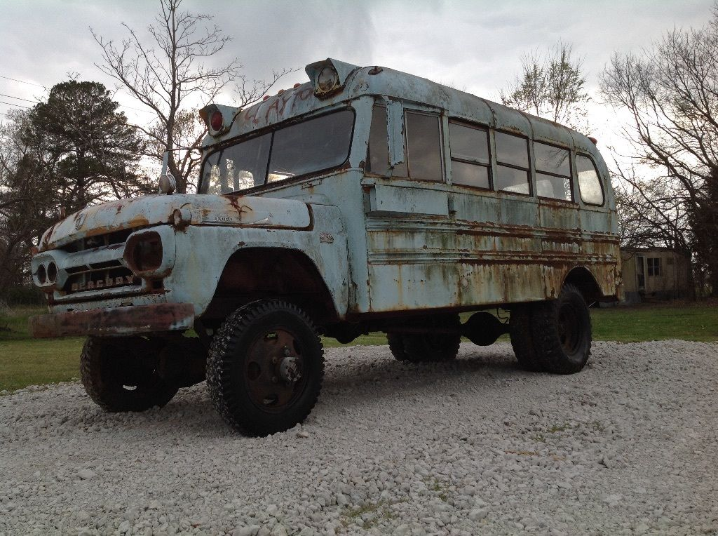 BangShift.com 1960 Mercury School Bus equipped with NAPCO 4x4