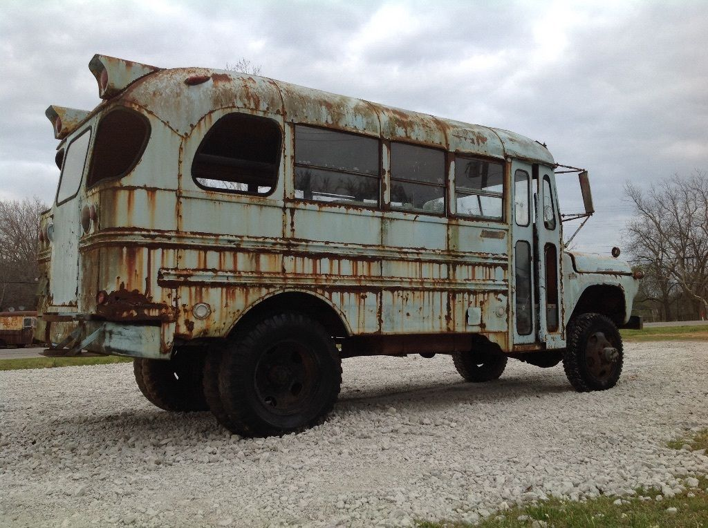BangShift.com 1960 Mercury School Bus equipped with NAPCO 4x4