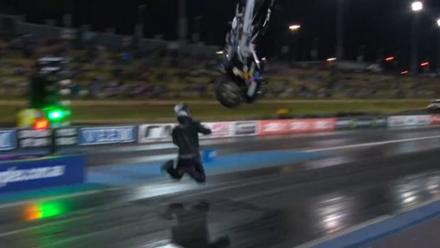 Gonna Feel That In The Morning: Watch As Brett Ghedina's Honda CBR Drag Bike Launches Into The Sky!