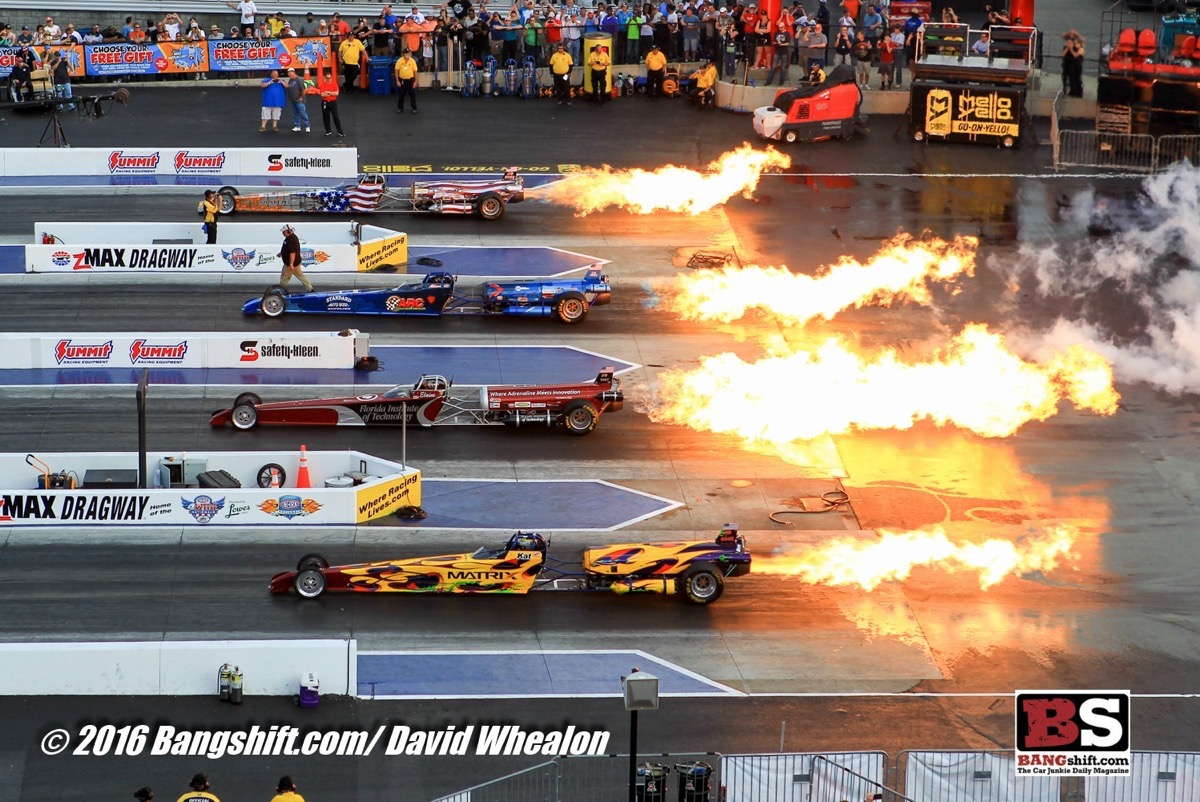NHRA 4-Wide Nationals Sportsman Photo Coverage: Four Wide For The First Time Ever