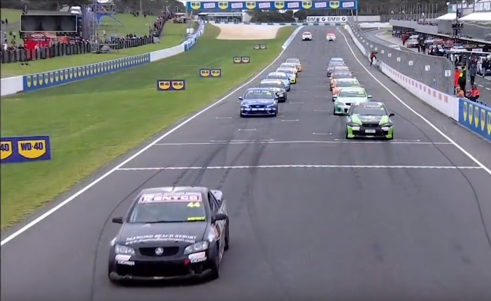 Curb Your Enthusiasm: Watch As A V8 Ute Racer Performs The Mother Of All Jump-Starts!