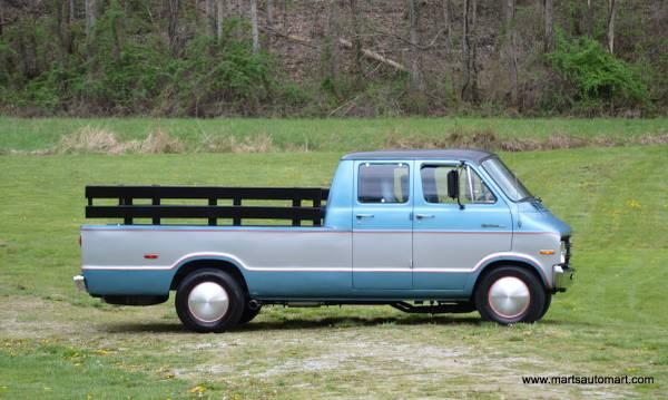one of a kind this big block 1971 dodge van truck combination is bitchin. Black Bedroom Furniture Sets. Home Design Ideas