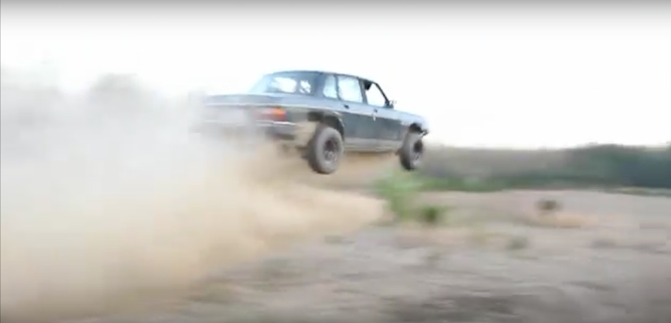 """Flying Brick! This Beater Volvo Has Hacked Fenders, Nitrous, Upgraded Wheels And Tires, And A """"Baja Bar"""". That Makes It Invincible, Right?"""