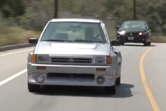 Take A Ride In Jay Lenos Ford Festiva Shogun Americas On The Group B