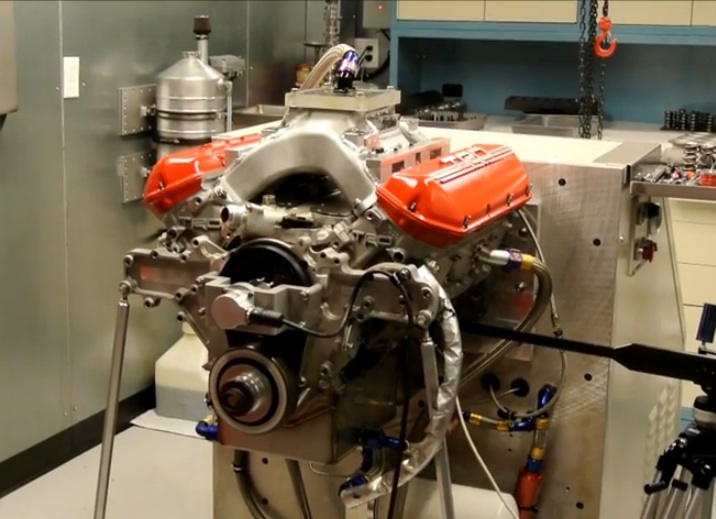 Watch And Listen To This NASCAR Engine Get Spintron Tested To 9,000 RPM – Wild Stuff!