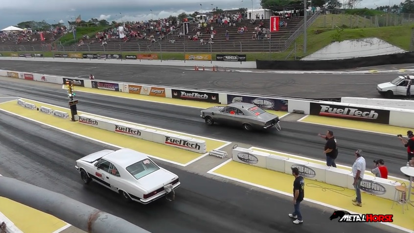 Watch The Two Nastiest Stick Shift Opala Drag Cars In Brazil Run Side By Side 7.90s At 190! Turbo Inliners Rule