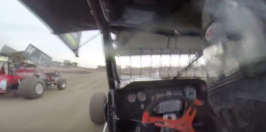In-Car Video: Ride In A Sprint Car During A Heat Race At The Belleville High Banks In Kansas