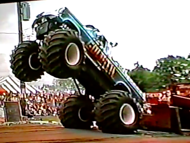 Old Monster Truck Perfection Video: Some Of The Most Famous Trucks Of '87 Sled Pulling