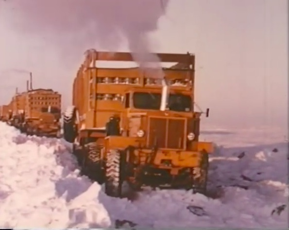 This 1956 Video Profiling 11 Mack Trucks Driving Into The Arctic Is Awesome