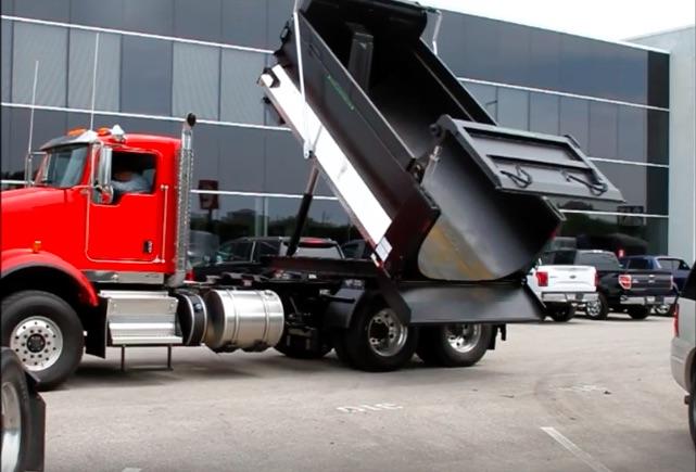Rotating Dump Truck Bed