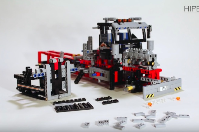 Watching This Lego Technic Logging Truck Assemble Itself In Stop Motion Is Oddly Satisfying
