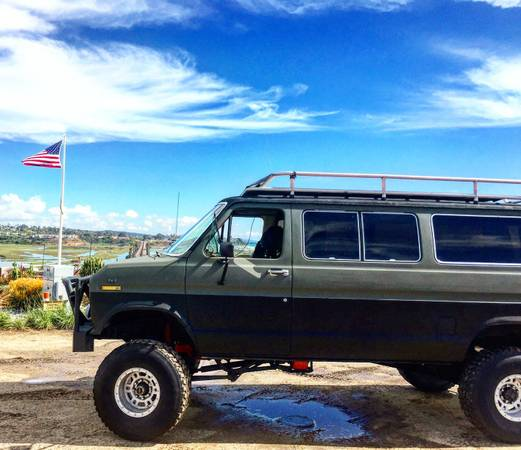 4×4 Van Conversion That Is Baja, Forest, And Muddy Road Ready.