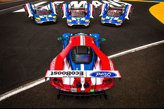 Ford GT takes pole for the 2016 24 Hours of Le Mans, starts in four of first five spots