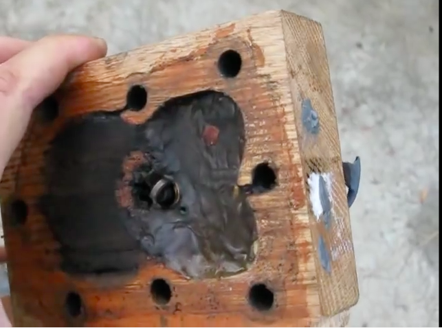 Weird Science: Watch This Guy Fire Up A Small Engine Topped With A Wooden Cylinder Head!